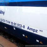 Ampz 143, 73 54 10-91 013-8, DKV Praha, Národní den železnice 2015, Hradec Králové hl.n., 26.9.2015, označení