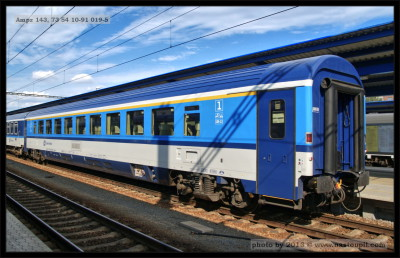 Ampz 143, 73 54 10-91 019-5, DKV Praha, 10.08.2013, Břeclav, pohled na vůz