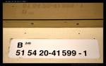 B 249, 51 54 20-41 599-1, DKV Olomouc, 11.03.2012, označení ve voze
