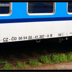 B 256, 50 54 20-41 307-0, DKV Olomouc, Praha Smíchov, 23.08.2011, nápisy na voze