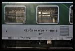 B 256, 50 54 20-41 418-5, DKV Praha, Praha Hl.n., 09.09.2012, nápisy na voze