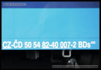 BDs 450, 50 54 82-40 007-2, DKV Olomouc, označení, Praha hl.n., 25.03.2013