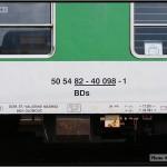 BDs 450, 50 54 82-40 098-1, DKV Olomouc, 05.04.2011, Praha Smíchov, nápisy na voze