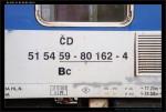 Bc 833, 51 54 59-80 162-4, DKV Praha, označení vozu, Pha ONJ, 07.11.2012