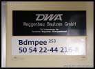 Bdmpee 253, 50 54 22-44 216-8, DKV Brno, označení, 12.12.2012