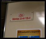 Bdmtee 275, 50 54 22-44 135-0, DKV Česká Třebová, 04.11.2011, označení ve voze