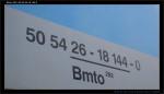 Bmto 292, 50 54 26-18 144-0, DKV Praha, Praha ONJ, 15.10.2012, označení
