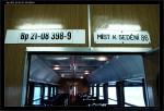 Bp 282, 50 54 21-08 398-9, DKV Plzeň, označení uvnitř, R 663 Brno-Plzeň, 11.08.2012