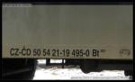 Bt 283, 50 54 21-19 495-0, DKV Praha, označení, Ústí nad Labem Hl.n., 15.03.2013