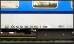 Beer 273, 50 54 20-38 113-7, DKV Olomouc, R 676 Brno-Praha, 05.04.2011, nápisy na voze