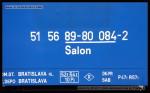 Salon, 51 56 89-80 084-2, DKV Bratislava, Bratislava hl.st., 07.12.2012, označení vozu