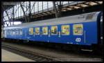 Salon 803, 51 54 89-40 021-5, DKV Praha, Šachový vlak 2013, Praha hl.n., 11.10.2013, pohled na vůz I