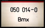 Bmx, 050 014-0, nápisy na voze, scan starší fotografie
