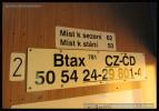 Btax 781, 50 54 24-29 801-4, Cyklohráček, depo Praha-Libeň, 04.07.2014, označení