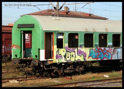 Bee 272, 50 54 20-38 021-2, DKV Brno, Brno Dolní nádr., 31.10.2013, část vozu