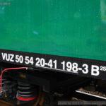B 256, 50 54 20-41 198-3 VÚŽ, Česká Kamenice, 18.6.2016, označení B256
