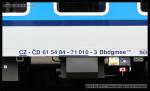Bbdgmee 236, 61 54 84-71 010-3, DKV Olomouc, označení na voze, Praha hl.n., 28.03.2013