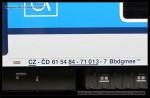 Bbdgmee 236, 61 54 84-71 013-7, DKV Praha, Pardubice hl.n., 29.06.2013