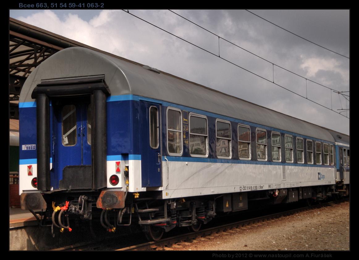 Bcee 663, 51 54 59-41 063-2, DKV Praha, ČDC, pohled na vůz, Praha hl.n., 13.09.2012