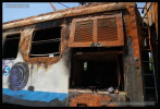 451 008-7, po požáru, Praha, depo Libeň, 04.07.2014 , pohled na vůz