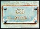 80 54 29-00 061-7, Nářaďový vůz, pův. Dsa 50 54 95-40 011-8, Nymburk, areál DPOV Nymburk, 12.10.2013, výr. štítek