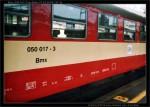 Bmx, 050 017-3, Brno hl.n., 03.05.2003, scan starší fotografie, nápisy na voze