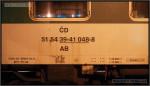 AB 349, 51 54 39-41 048-8, DKV Brno, R 877 Praha Smíchov-Brno, 08.04.2011, nápisy na voze