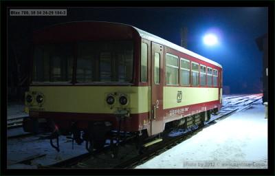 Btax 780, 50 54 24-29 104-3, DKV Brno, Okříšky, 10.02.2012, pohled na vůz