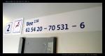 Bee 238, 61 54 20-70 531-6, DKV Praha, D1Ex, Sv 557, Praha ONJ, 8.10.2012 , nápisy ve voze