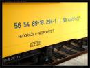 56 54 89-18 294-1, SKANSKA CZ železniční stavitelství Praha, dom.st. Benešov u Prahy, nápisy na voze