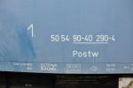 Postw, 50 54 90-40 290-4, Ateco Bubny, 10.2012, označení na voze