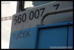 94 54 1 560 007-7, DKV Brno, 23.08.2012, Sokolnice-Telnice, označení na čele vozu