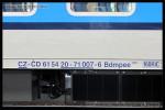 Bdmpee 233, 61 54 20-71 007-6, DKV Olomouc, Praha hl.n., 19.09.2013