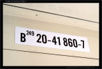 B 249, 51 54 20-41 860-7, DKV Plzeň, 11.11.2011, Čes. Budějovice, nápisy ve voze