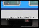 B 249, 51 54 20-41 669-2, označení na voze, Ústí nad Labem hl.n., 08.02.2013