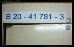 B ZSSK, 51 56 20-41 781-3, označení ve voze, Ex 126, 04.05.2012