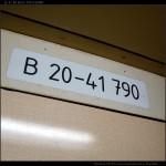 B ZSSK, 51 56 20-41 790-4, nápisy ve voze, Ex 126, 04.05.2012