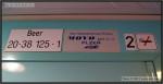 Bee 273, 50 54 20-38 124-4, DKV Olomouc, R 689 Praha-Brno 18.04.2011, nápisy ve voze
