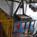 Lanovka Ještěd, kabina č.2, stanice Ještěd, 27.12.2015