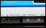 Bbdgmee 236, 61 54 84-71 055-8, DKV Plzeň, Praha hl.n., 18.11.2013