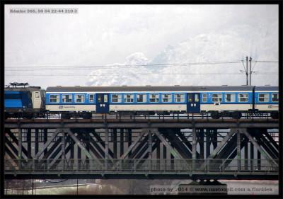 Bdmtee 265, 50 54 20-82 210-2, DKV Praha, Ústí nad Labem, most Střekov - západ, 03.02.2014