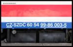 60 54 99-86 003-5, SŽDC - Měřící vůz pro železniční svršek, Pardubice hl.n., 13.03.2014, označení