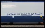 Bmz 232, 61 81 21-90 023-6, DKV Olomouc, Pardubice hl.n., 27.3.2014, označení na voze