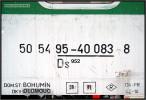 01 Ds 925, 50 54 95 40 083-8, DKV Olomouc, R 733 Brno-Bohumín, 11.12.2010, nápisy na voze