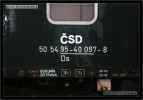 Ds 952, 50 54 95-40 097-8, DKV Ostrava, 17.09.2005, Paskov, nápisy na voze