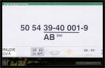 AB 350, 50 54 39-40 001-9, DKV Čes. Třebová, 04.08.2005, Ostroměř, nápisy na voze