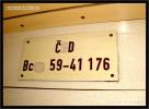 Bc 833, 51 54 59-41 176-2, DKV Praha, 15.07.2011, označení ve voze