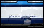 Bmz 235, 61 81 21-91 057-3, Czech Rail Days Ostrava, 18.6.2014, označení