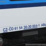 ABpee 347, 61 54 30-30 004-1, DKV Brno, Olomouc hl.n., 03.01.2015, označení