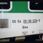 Bee 272, 50 54 20-38 029-5, DKV Olomouc, nápisy na voze, scan starší fotografie